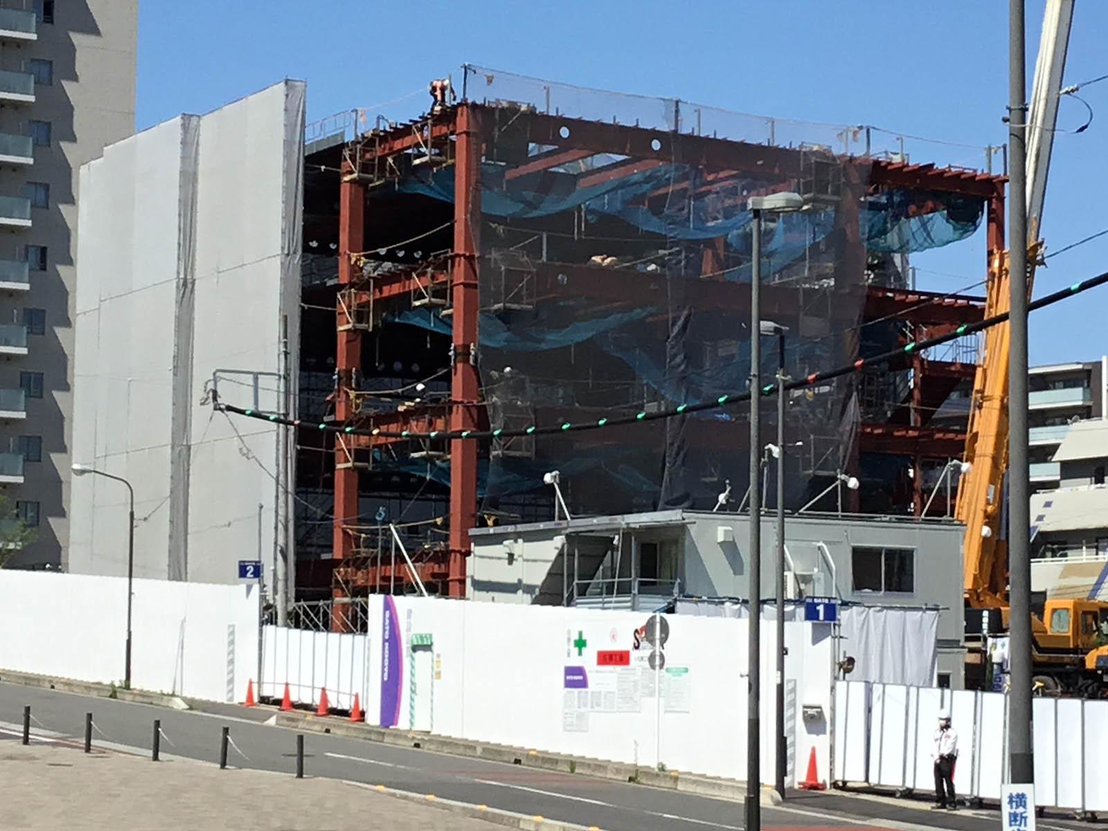 ゴトー養殖研究所 新本社ビルは4階建てです。2021年3月完成予定。