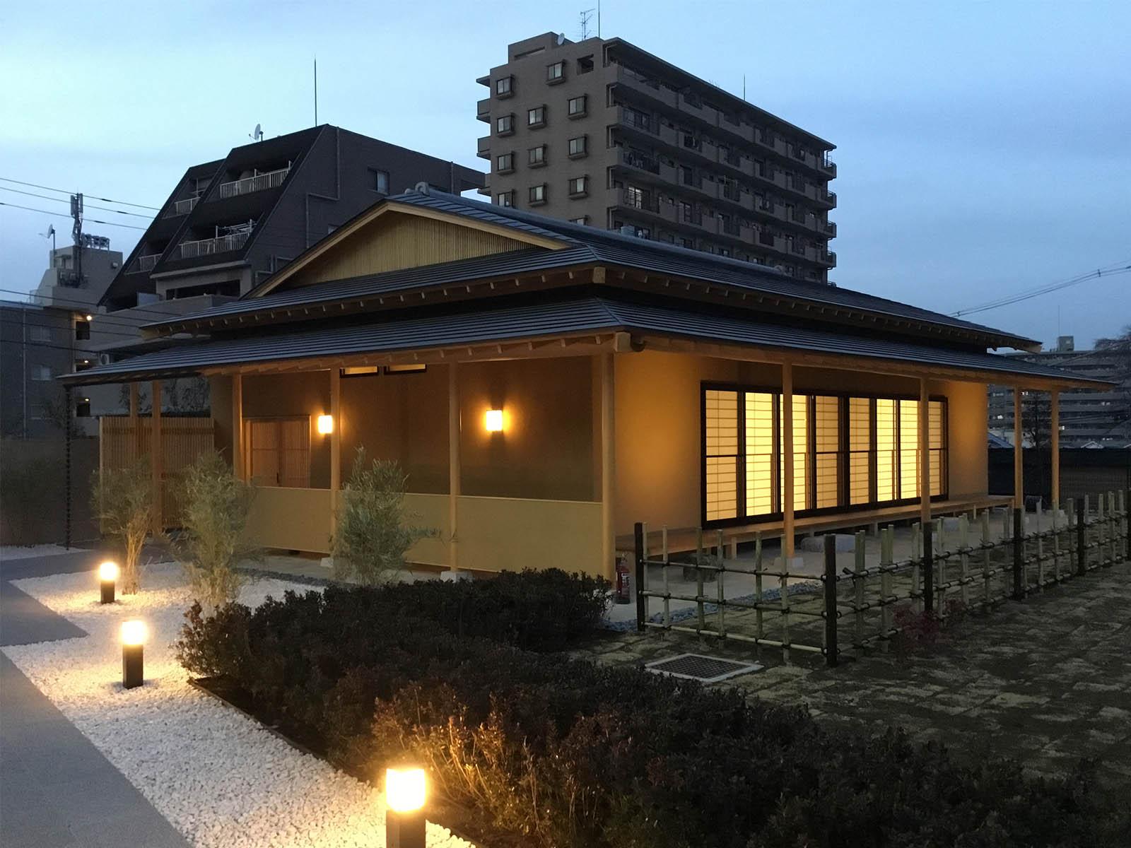 ゴトー養殖研究所本社ビル「さくら坂ビル」と茶室「芳庵」