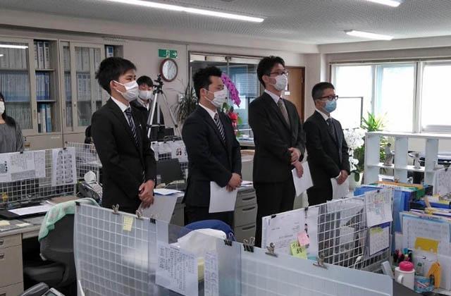 ゴトー養殖研究所 2021年入社式